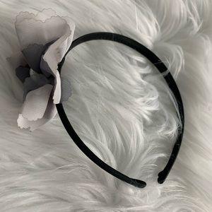 NEW Gray flower headband
